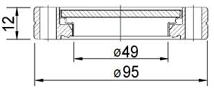 Окно вакуумное смотровое на фланце ISO63, нержавеющая сталь SS304, стекло 7056