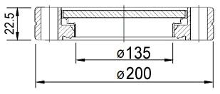 """Окно вакуумное смотровое на фланце CF8.0"""" (CF160), нержавеющая сталь SS304, стекло 7056"""