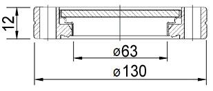 Окно вакуумное смотровое на фланце ISO100, нержавеющая сталь SS304, стекло 7056