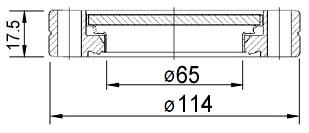 """Окно вакуумное смотровое на фланце CF4.5"""" (CF63), нержавеющая сталь SS304, стекло 7056"""