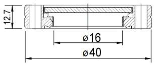 Окно вакуумное смотровое на фланце KF25, нержавеющая сталь SS304, стекло 7056