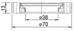 """Окно вакуумное смотровое на фланце CF2.75"""" (CF35), нержавеющая стальSS304, стекло 7056"""