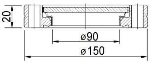"""Окно вакуумное смотровое на фланце CF6.0"""" (CF100), нержавеющая сталь SS304, стекло 7056"""