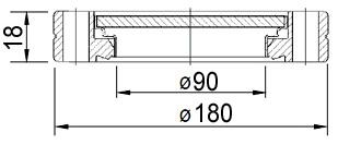 Окно вакуумное смотровое на фланце ISO160, нержавеющая сталь SS304, стекло 7056
