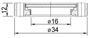"""Окно вакуумное смотровое на фланце CF1.33"""" (CF16), нержавеющая сталь SS304, стекло 7056"""